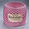 Трикотажная пряжа Bobilon Medium (7-9мм). Розовый Фламинго