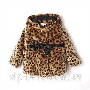 Полушубок-пальто осенный на девочку*Леопард*, фото 1