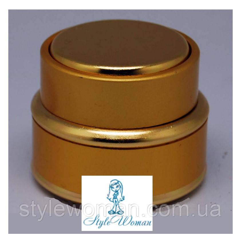 Баночка закрутка золото, емкость 15мл