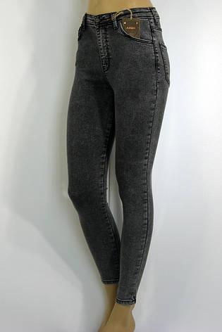 Жіночі сірі джинси із замком взаді, фото 2
