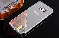 Чехол для Samsung S6 серебряный зеркальный акрил