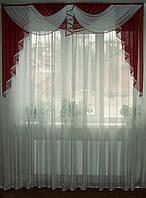 Ламбрикен бордо Классика 2м с бахрамой, фото 1