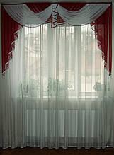 Ламбрикен бордо Класика 2м з бахромою