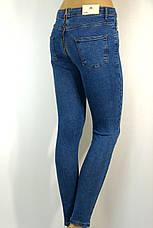 Жіночі голубі джинси із замком взаді, фото 3