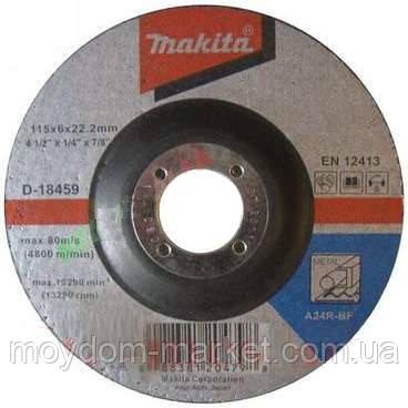 Диск шліфув. Makita 115х6х22мм 24R метал D-18459
