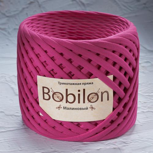 Трикотажная пряжа Bobilon Micro (3-5мм). Малиновый