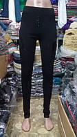 Леггинсы черные с пуговицами PLOVDIV Турция №1003