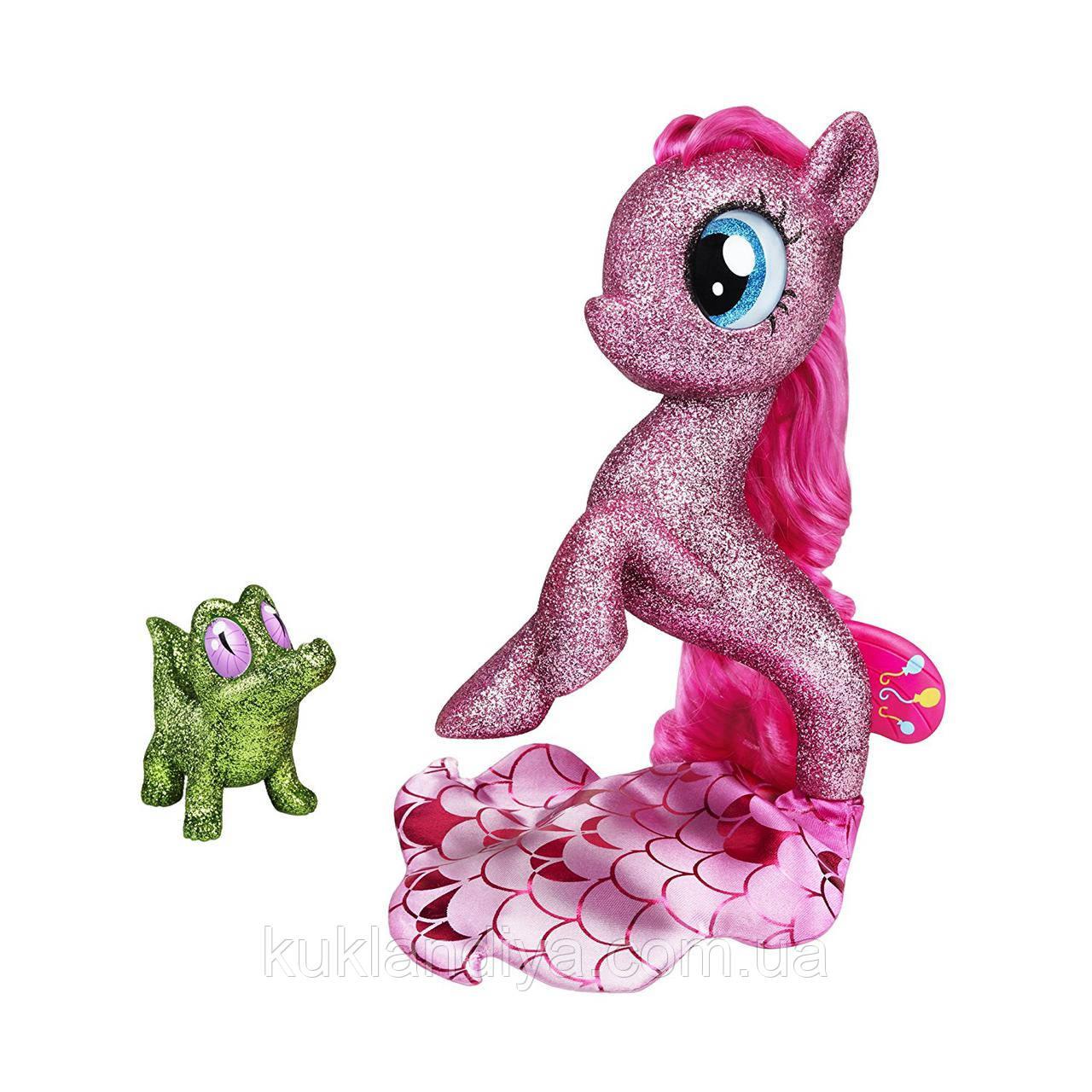 My Little Pony: The Movie глитерная Пинки Пай  русалочка с питомцем на светящейся подставке
