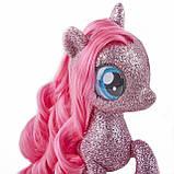 My Little Pony: The Movie глитерная Пинки Пай  русалочка с питомцем на светящейся подставке, фото 3