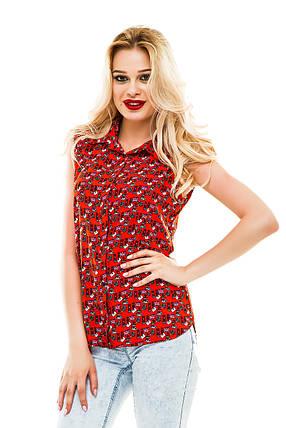 Блузка 262 красная, фото 2