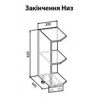 Угловое окончание низ РОЯЛ мебель сервис