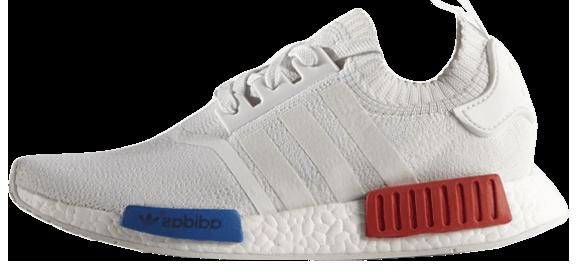 """Женские кроссовки adidas NMD Runner PK """"White/Red/Blue"""" (Адидас) белые"""