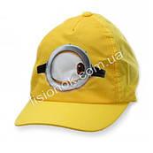 Кепка дитяча Міньйони, 54-56см 56см, Жовта