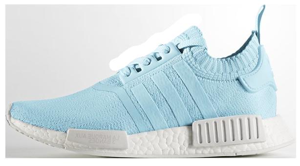 """Женские кроссовки adidas NMD R1 Primeknit Women """"Ice Blue"""" (Адидас) голубые"""