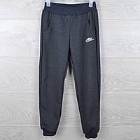 """Спортивные штаны детские """"Nike реплика"""". 3-7 лет. Темно-серые. Оптом"""
