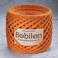 Ленточная пряжа Bobilon Medium (7-9мм). Оранжевый Апельсин