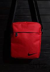 Сумка мессенджер Nike красного цвета