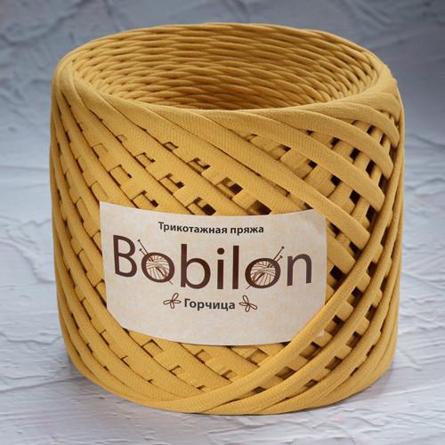 Трикотажная пряжа Bobilon Medium (7-9мм). Горчица