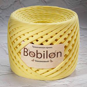 Трикотажная пряжа Bobilon Micro (3-5мм). Банановый