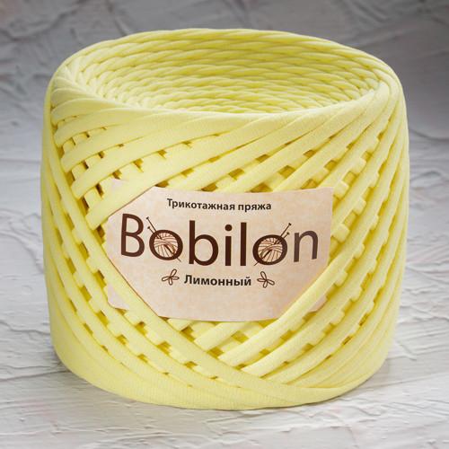 Трикотажная пряжа Bobilon Micro (3-5мм). Лимонный