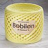 Ленточная пряжа Bobilon Medium (7-9мм). Лимонный