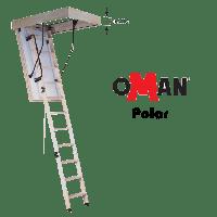 Чердачная лестница Polar 120x60 утепленная 87мм деревянная Oman