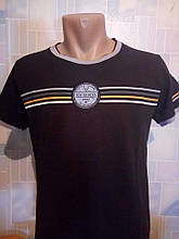 Чоловіча чорна турецька бавовняна футболка Saviola