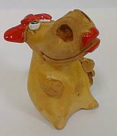 """Бегемот """"Красные губки"""" сувенир статуэтка"""