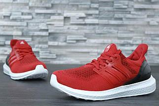 Мужские кроссовки Adidas Ultra Boost Red, фото 2