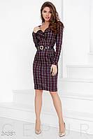 Трикотажное платье-шотландка