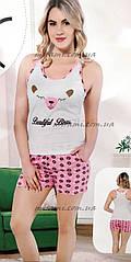 Яркие женские пижамы с шортами, цвета