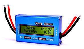 Профессиональный высокоточный RC Ваттметр - Вольтметр - Амперметр постоянного тока 0-60В 100А