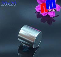 Польский неодимовый магнит бочёнок 20мм*20мм, 20кг, N42, фото 1