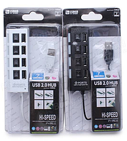 Переходник 4*USB Hub *4 выключателя on/off