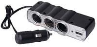 Прикуреватель WF-0120 3*прикуреватель + 1*USB