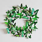 Бабочки 3D  голубые, набор 12 штук, фото 7
