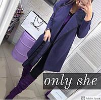 Женское модное кашемировое пальто с поясом Кант, фото 1