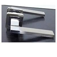 Дверная ручка на квадратной розетке TRION TORRO AL SN/CP  квадрат