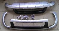 Накладки переднего и заднего бамперов Volkswagen Touareg с 2010г.