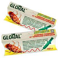 Шприц-гель от тараканов и муравьев GLOBAL (40g) для защиты
