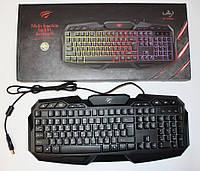 Клавиатура Havit HV-KB406L GAMING USB с подсветкой, фото 1