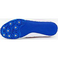 Шиповки беговые OB-6096-W бело-синие