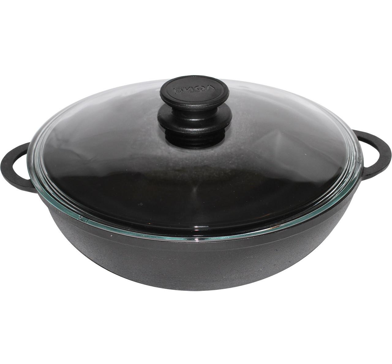 Сковорода чугунная  WOK 28см 4 литра