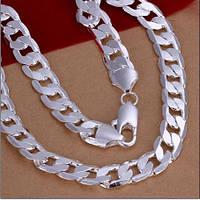 Цепочка ширина 12 мм покрытие 925 серебро проба 50 см