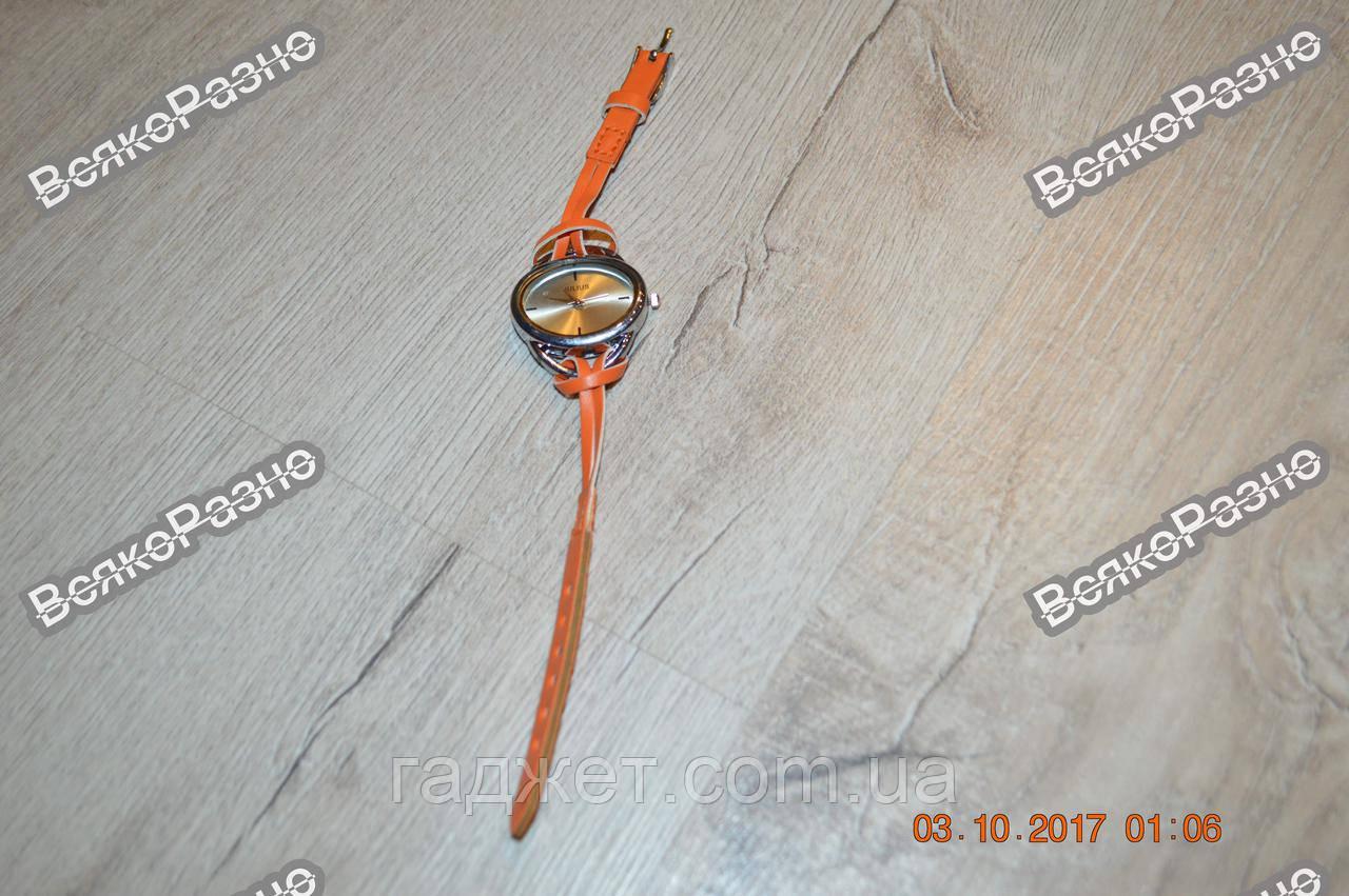 Молодежные часы JULIUS оранжевого цвета. Наручные часы.