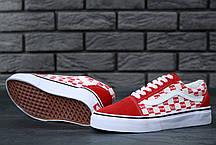Женские кеды Supreme x Vans Old Skool red. ТОП Реплика ААА класса., фото 2