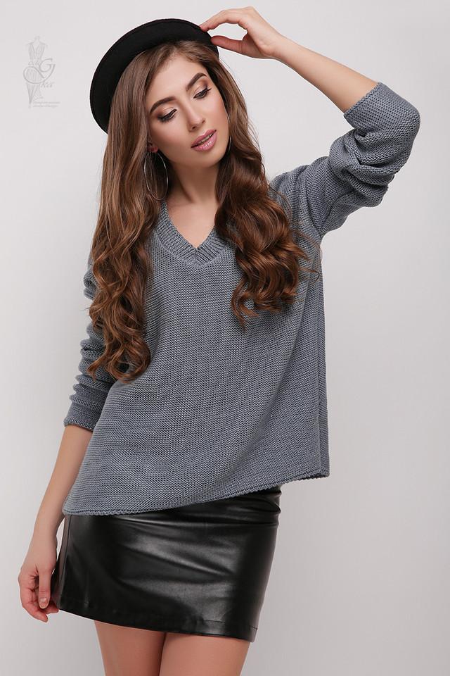 Цвет графит Женского свитера из шерсти и акрила Личи