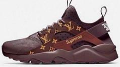Кросівки жіночі Найк Nike Air Huarache Supreme Brown. ТОП Репліка ААА класу.