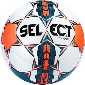 Мяч футбольный SELECT Talento бел/син/оранж размер 5