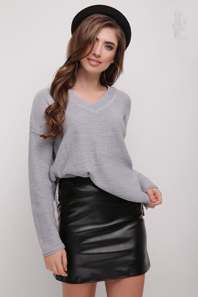 Цвет серый Женского свитера из шерсти и акрила Личи